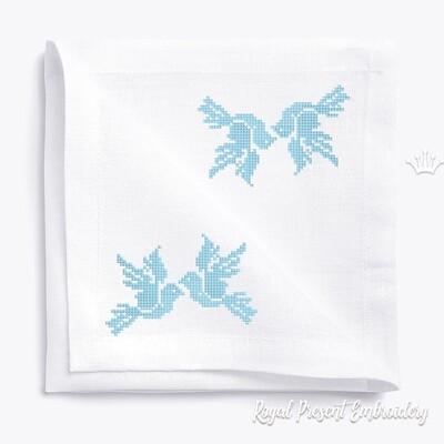 Голуби Дизайн для машинной вышивки крестом бесплатно - 2 размера