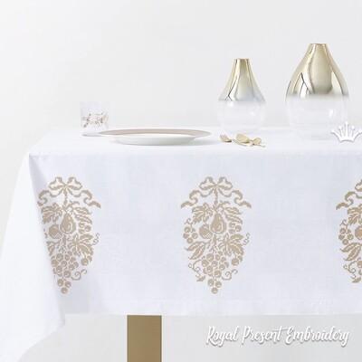 Фрукты Три Дизайна машинной вышивки крестом
