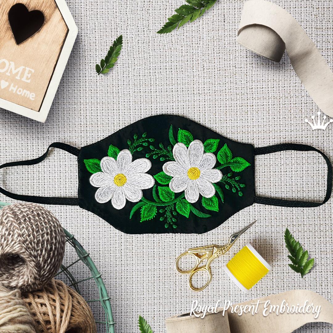 Модная защитная маска для лица Бесплатный Дизайн машинной вышивки