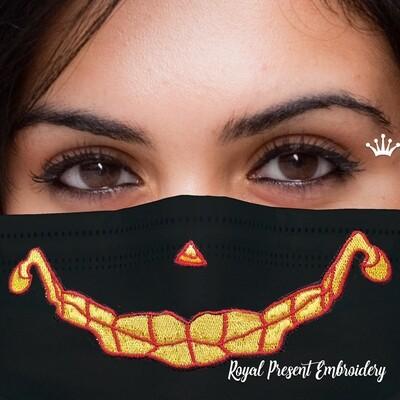 Модная маска для лица Хэллоуин Бесплатный Дизайн машинной вышивки