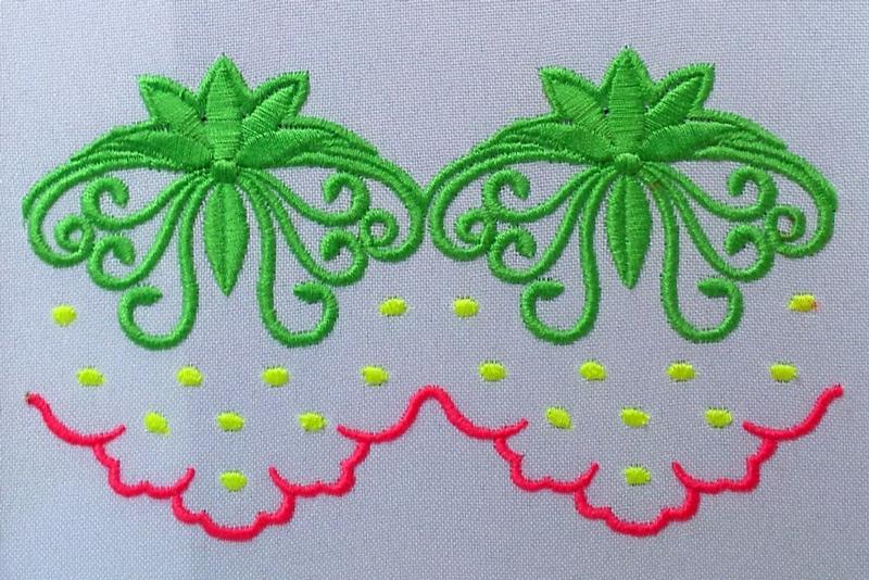 Дизайн машинной вышивки Декоративный элемент