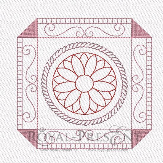 Дизайн машинной вышивки - Геометрический орнамент для квилта #3 RPE-462