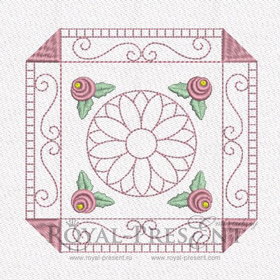 Дизайн машинной вышивки - Геометрический орнамент для квилта #5 RPE-462-01