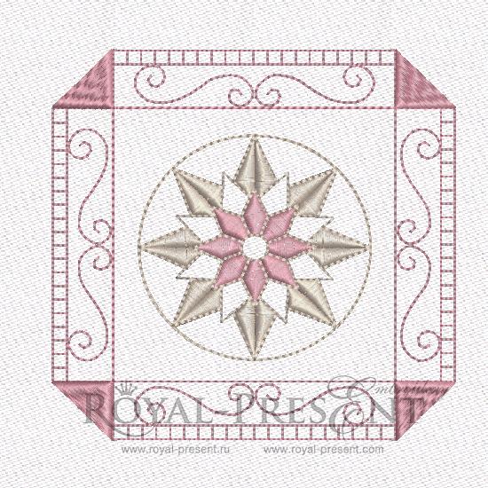 Дизайн машинной вышивки - Геометрический орнамент для квилта #6 RPE-462-02
