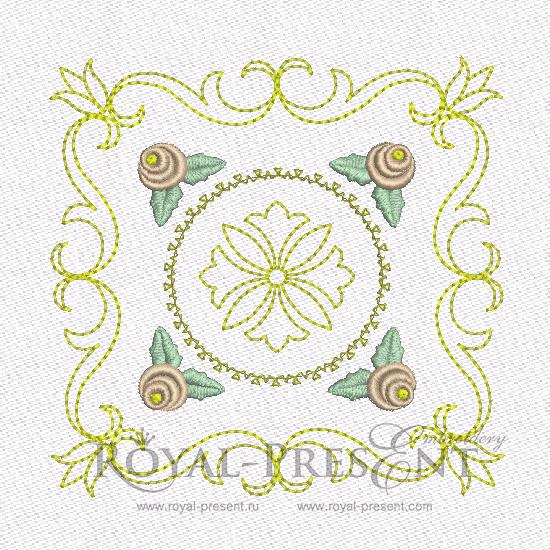 Дизайн машинной вышивки - Геометрический орнамент для квилта #4 RPE-463