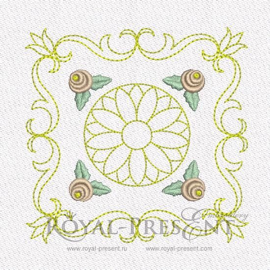 Дизайн машинной вышивки - Геометрический орнамент для квилта #7 RPE-463-01