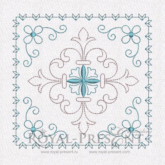 Дизайн машинной вышивки Геометрический орнамент для квилта #8 RPE-461-01