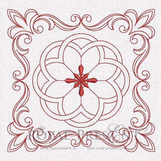 Дизайн машинной вышивки для квилта #1 RPE-841