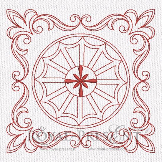 Дизайн машинной вышивки для квилта #2 RPE-841-01