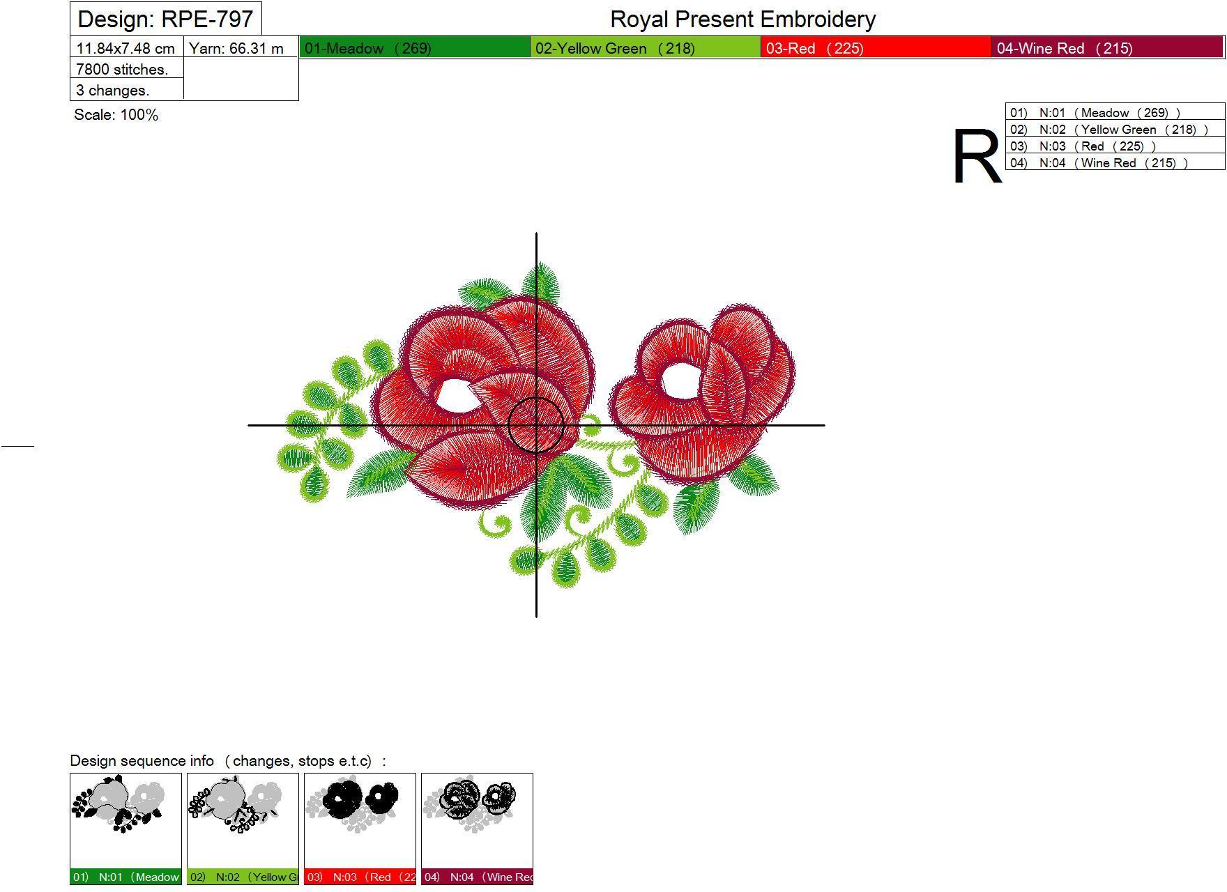 Дизайн машинной вышивки бесплатно Садовые розы