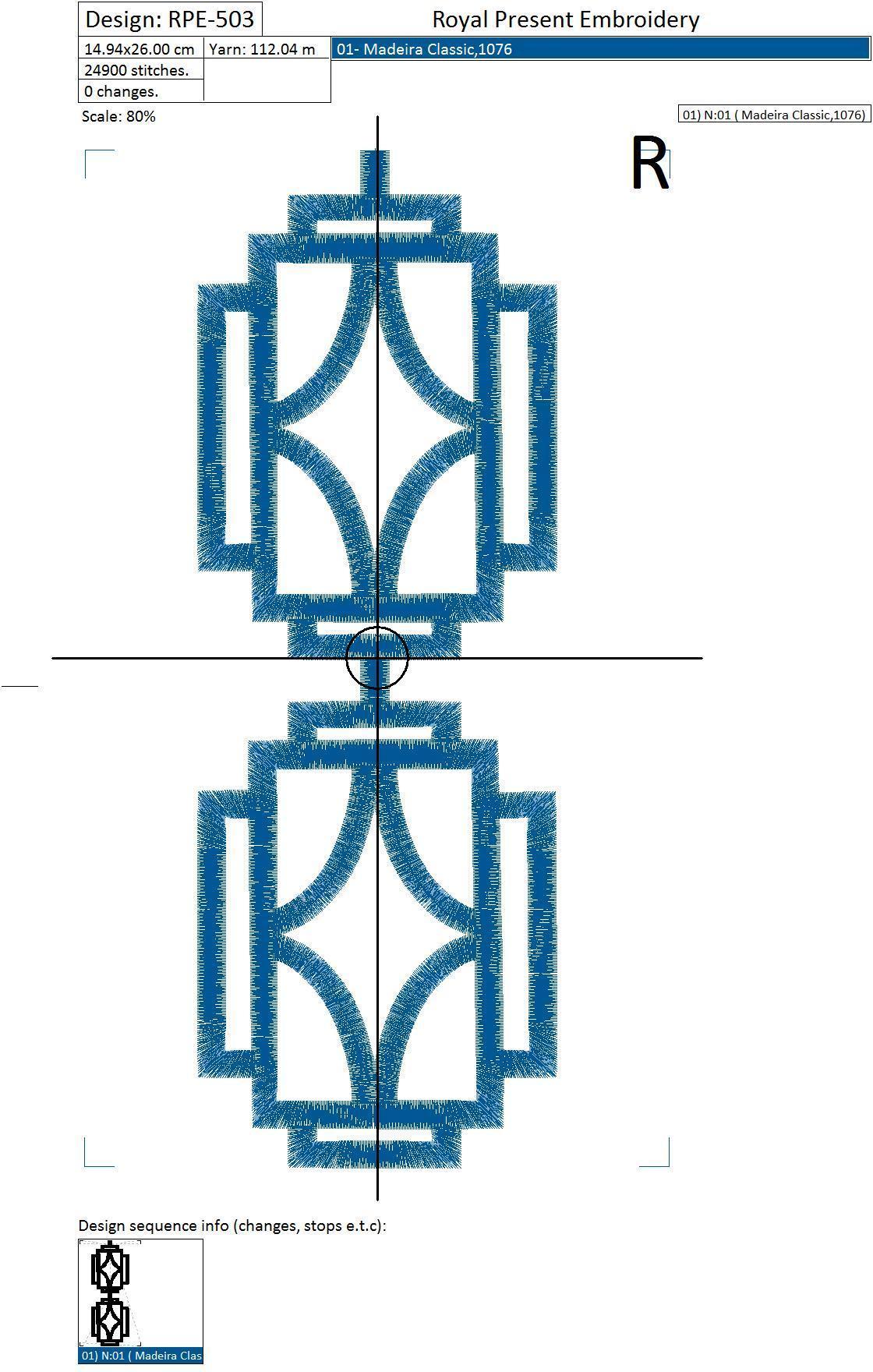 Дизайн для машинной вышивки Графический узор