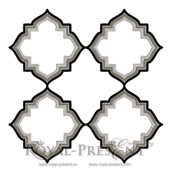 Дизайн машинной вышивки Орнамент в стиле Арт Деко RPE-619