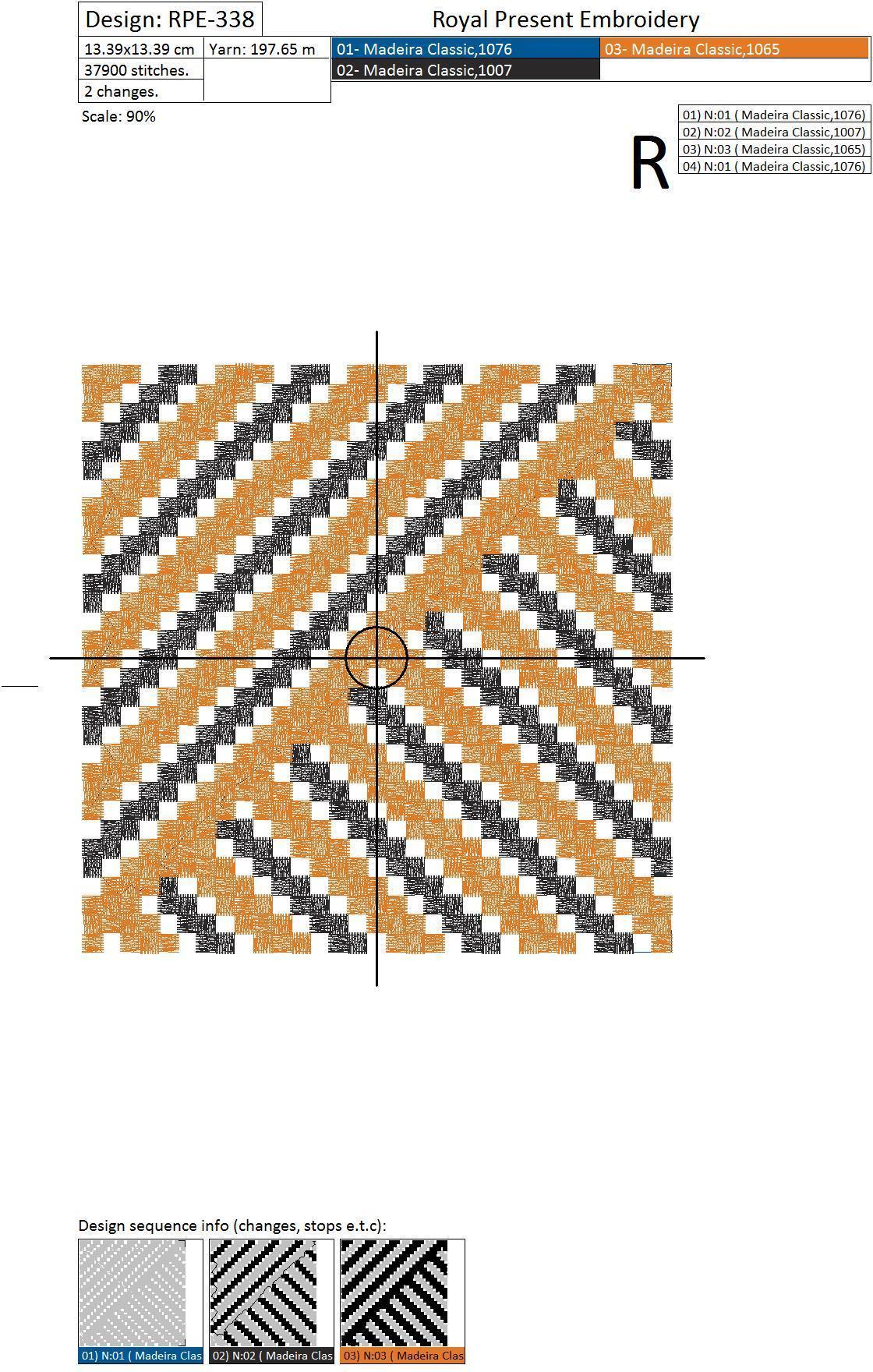 Дизайн для машинной вышивки Барджелло