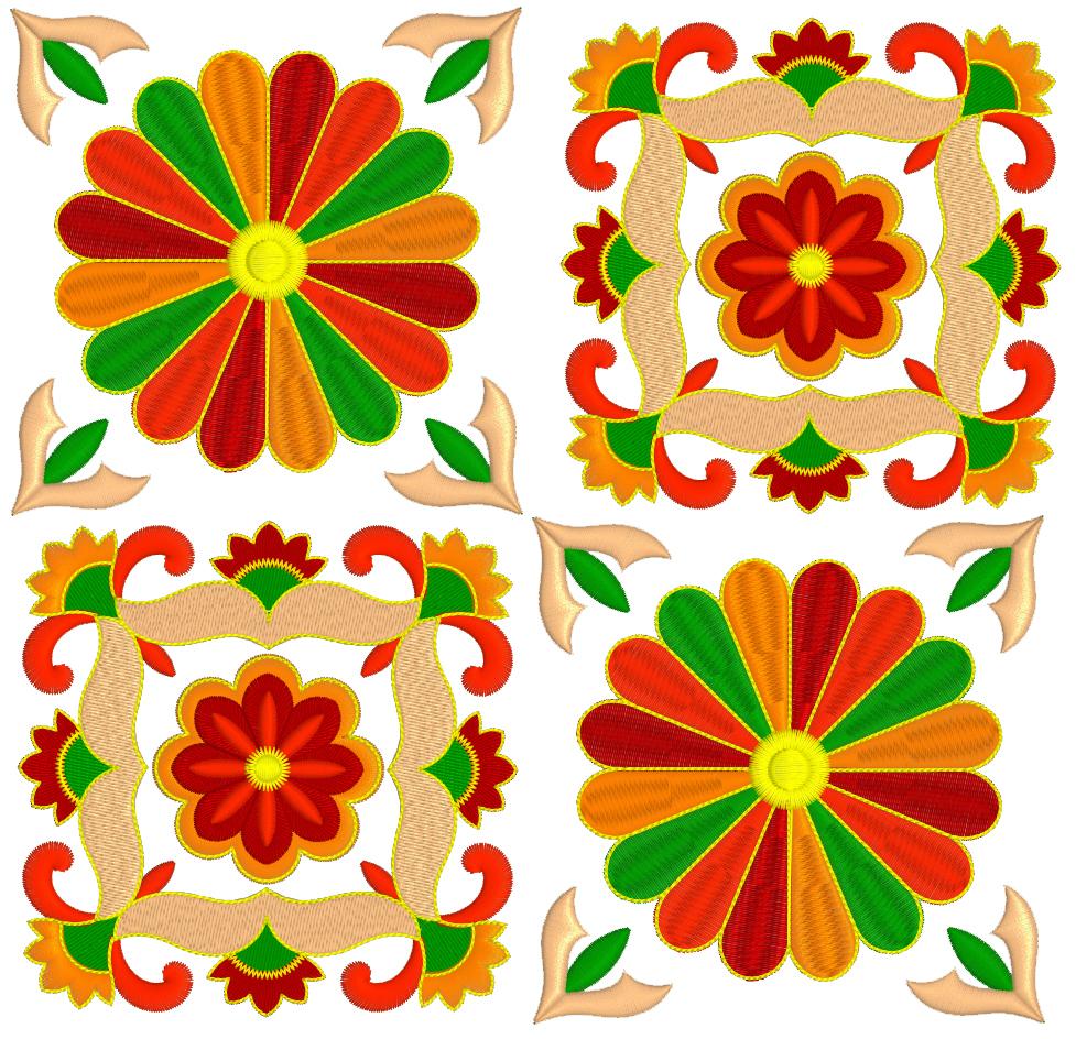 Дизайн машинной вышивки бесплатно Два декоративных элемента RPE-823