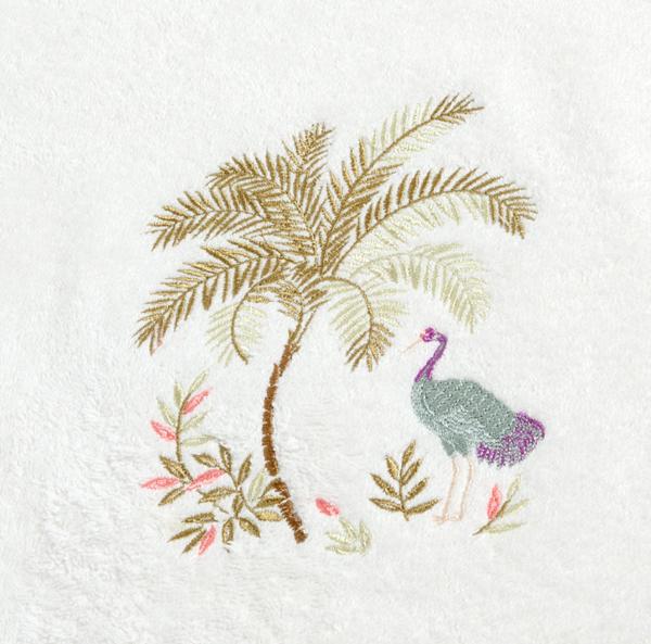 Дизайн машинной вышивки Журавль под пальмой RPE-192