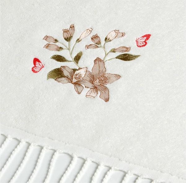 Дизайн машинной вышивки Лилии и бабочки RPE-852-01