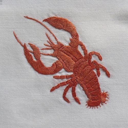 Дизайн машинной вышивки Рак