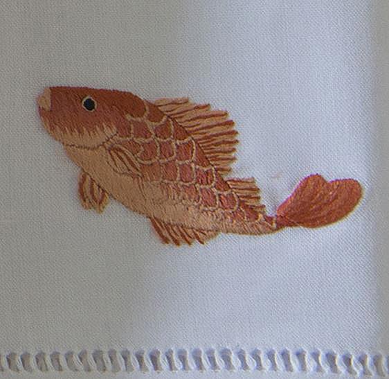Дизайн машинной вышивки Рыбка