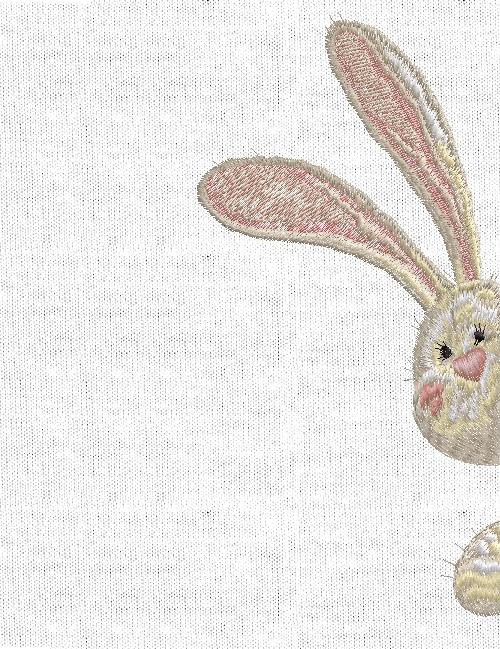 Дизайн машинной вышивки Кролик