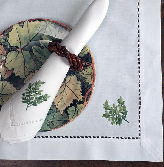 Дизайн машинной вышивки Зеленые листья RPE-262