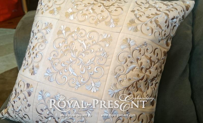 Дизайн машинной вышивки - Классический растительный орнамент RPE-533