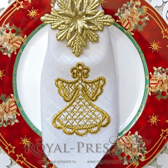 Дизайн машинной вышивки Кружевная Снегурочка RPE-611