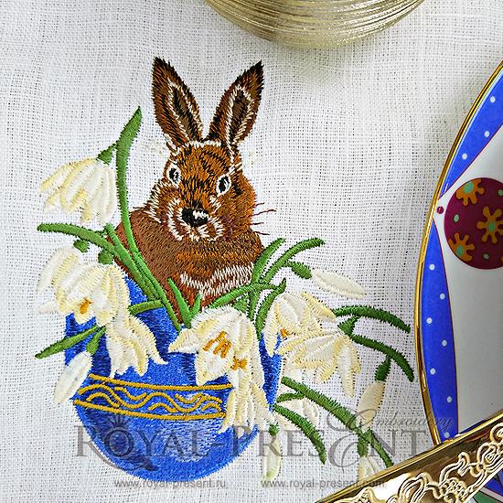 Пасхальный Кролик Дизайн машинной вышивки - 3 размера