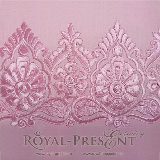 Дизайн для машинной вышивки Роскошный индийский бордюр RPE-632
