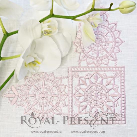 Дизайн машинной вышивки Кружевной уголок - 3 размера RPE-794