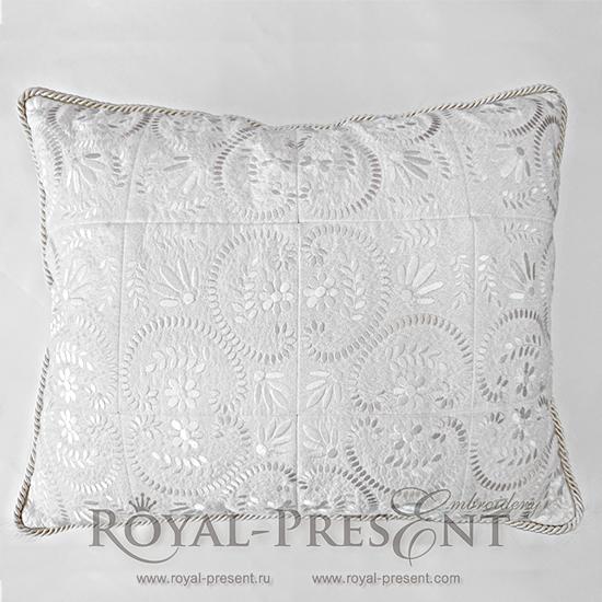 Дизайн машинной вышивки для квилта Растительный декор FRP-012