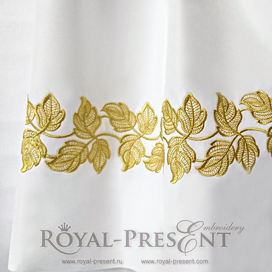 Дизайн машинной вышивки Кружевные листья RPE-617