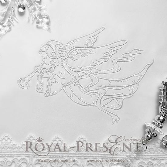 Дизайн машинной вышивки Рождественский Ангел II - 3 размера RPE-705