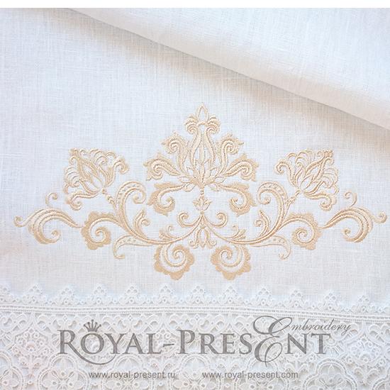 Дизайн машинной вышивки Винтажный элегантный декор - 2 размера RPE-1102