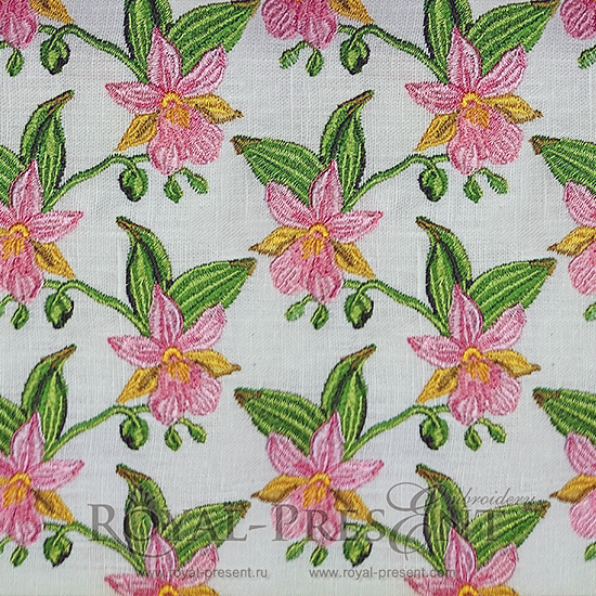 Дизайн машинной вышивки Бесконечные орхидеи RPE-714