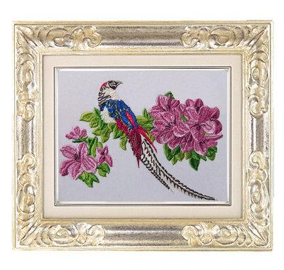 Дизайн машинной вышивки Тропическая птица - 3 размера