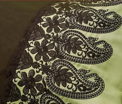 Дизайн машинной вышивки Элемент восточного бордюра