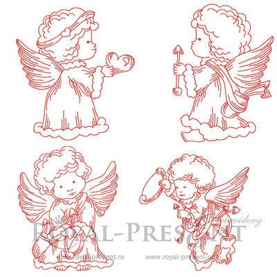 Коллекция дизайнов машинной вышивки Маленькие Ангелочки