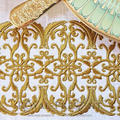 Элемент дизайна для машинной вышивки - Классический бордюр