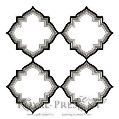 Дизайн машинной вышивки Орнамент в стиле Арт Деко