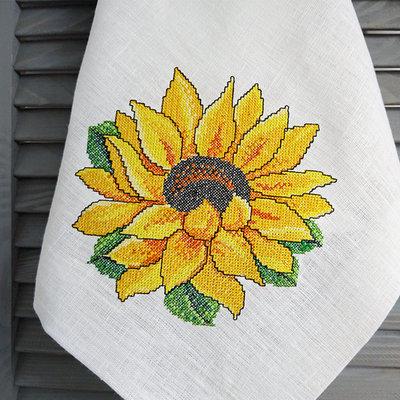 Дизайн для машинной вышивки крестом Подсолнух