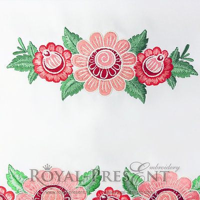 Дизайн машинной вышивки Русский фольклорный декор - 2 размера
