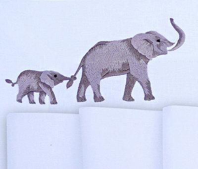 Дизайн машинной вышивки Слоны