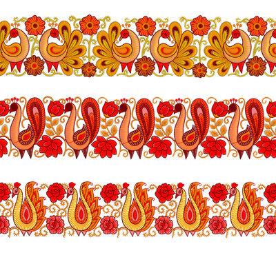 Набор дизайнов для машинной вышивки - Павлины