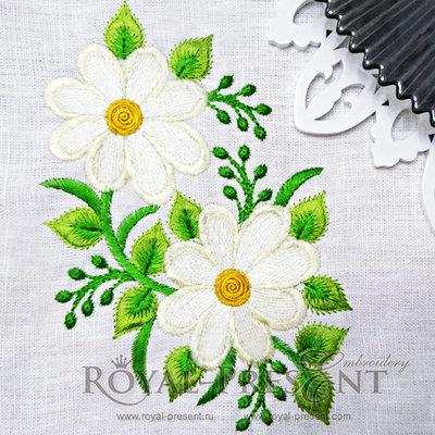 Дизайн для машинной вышивки Ромашечки