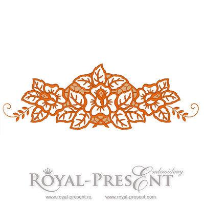 Дизайн для машинной вышивки ришелье Розы