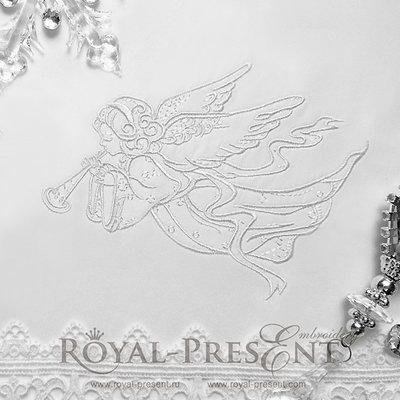 Дизайн машинной вышивки Рождественский Ангел II - 3 размера