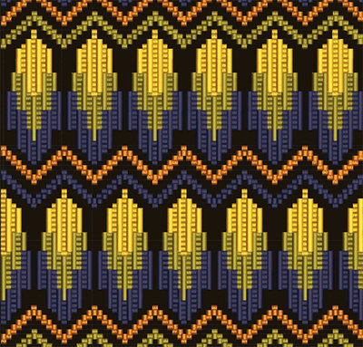 Дизайн машинной вышивки Графика в стиле барджелло