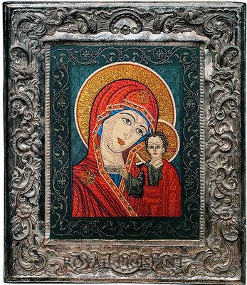Дизайн машинной вышивки Икона Казанская Божья Матерь