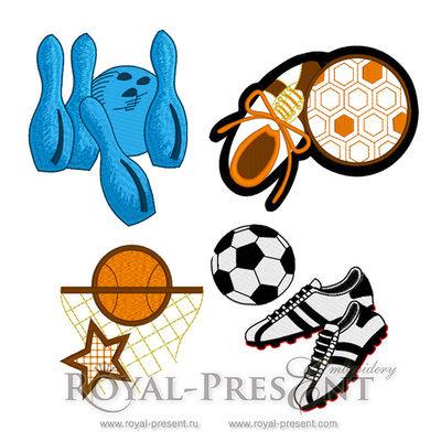 Набор дизайнов машинной вышивки Спортивный