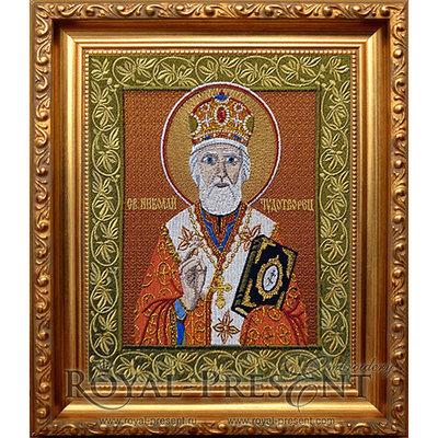 Дизайн машинной вышивки Святой Николай Чудотворец